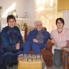 My mother, Nanna and me.