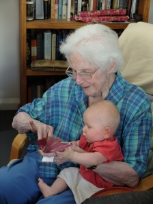 Nanna with baby Audrey
