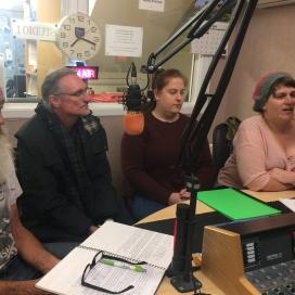 Bob McKinnon, Jason Nahrung, Zoe Werner & myself at Voice FM, Ballarat, May 2019. Photo by Pauline O'Shannessy Dowling.